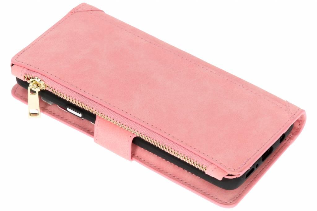 Roze luxe portemonnee hoes voor de Samsung Galaxy S9 Plus