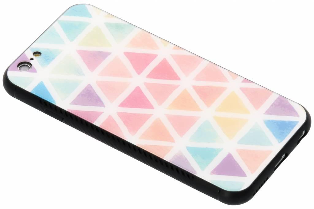 Gekleurd driehoekjes design glazen hardcase voor de iPhone 6 / 6s