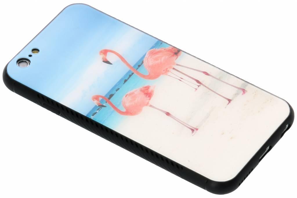 Flamingo beach design glazen hardcase voor de iPhone 6 / 6s