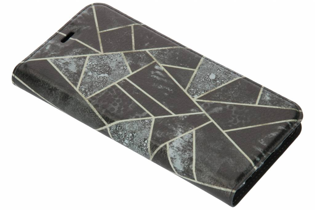 Grijs Grafisch Design TPU Bookcase voor de Huawei Mate 10 Lite