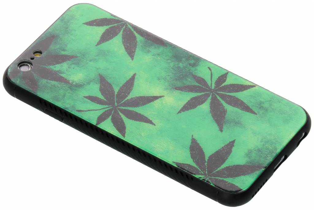 Groene plant design glazen hardcase voor de iPhone 6 / 6s