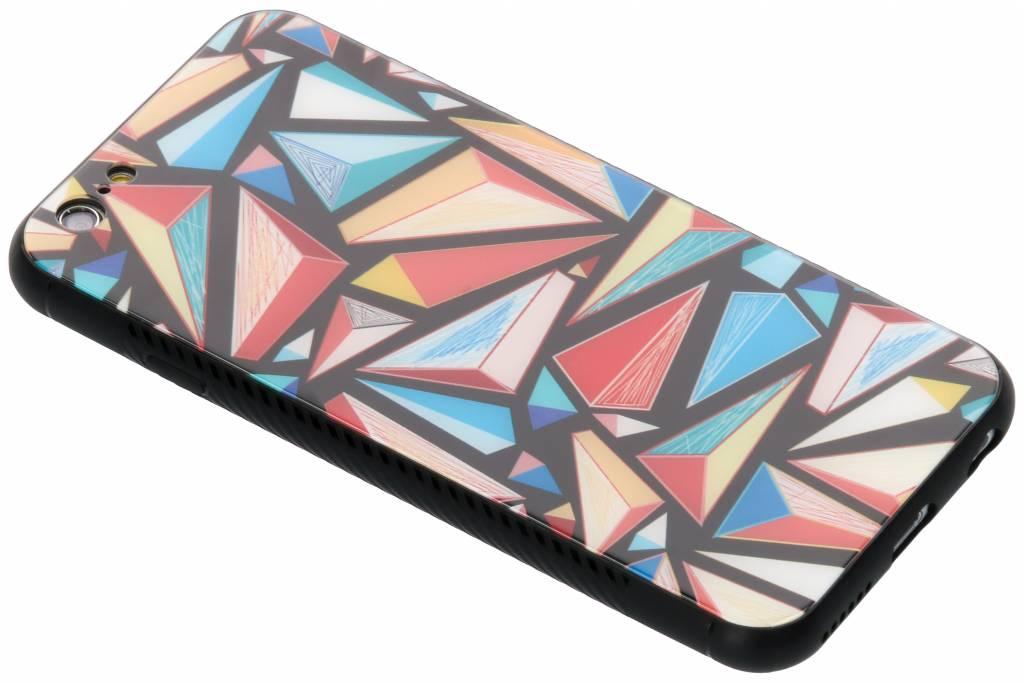 Grafische kleuren design glazen hardcase voor de iPhone 6 / 6s