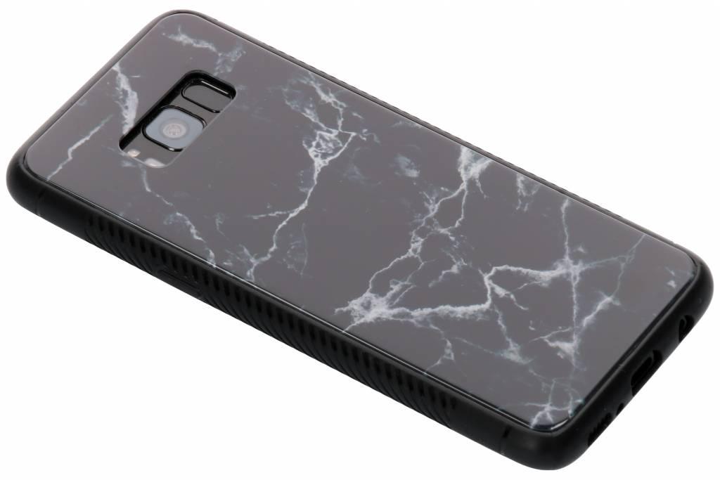 Zwart marmer design glazen hardcase voor de Samsung Galaxy S8