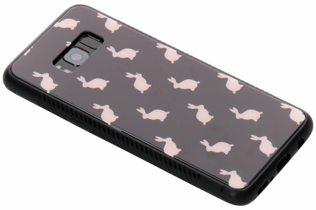 Roze konijn design glazen hardcase voor de Samsung Galaxy S8