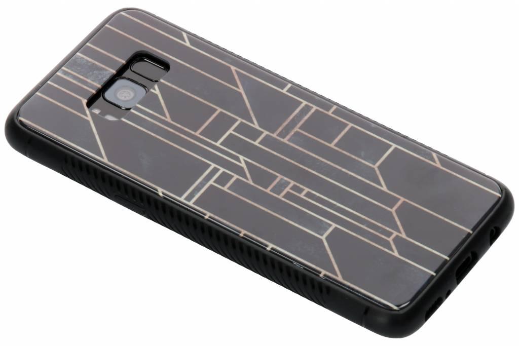 Grafische lijnen design glazen hardcase voor de Samsung Galaxy S8