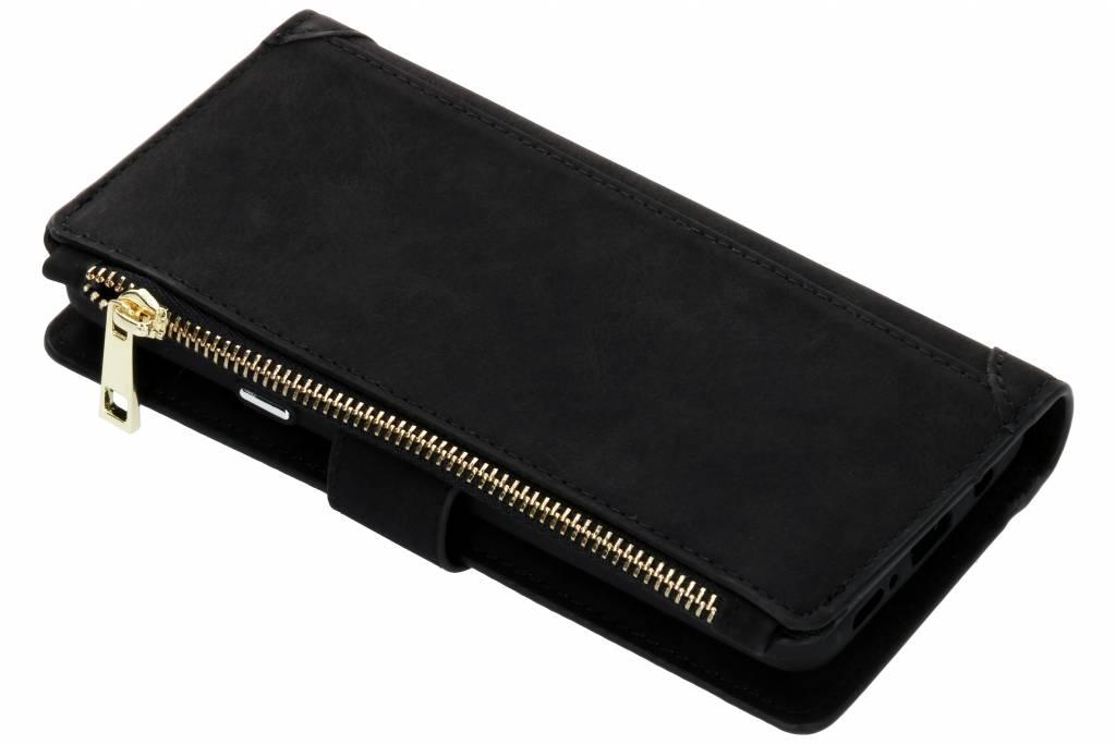 Zwarte luxe portemonnee hoes voor de Samsung Galaxy S9 Plus