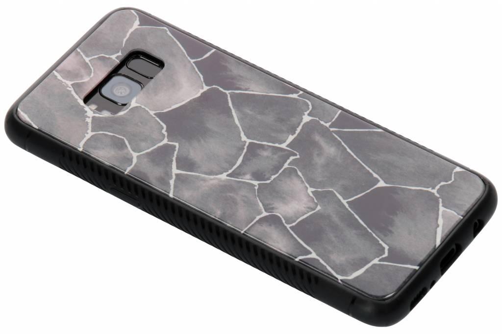 Grafisch steen design glazen hardcase voor de Samsung Galaxy S8