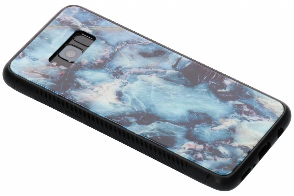 Blauw marmer design glazen hardcase voor de Samsung Galaxy S8