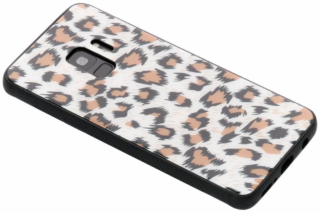 Luipaard design glazen hardcase voor de Samsung Galaxy S9