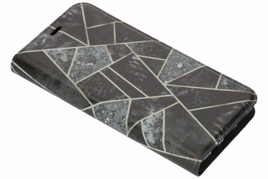 Grijs Grafisch Design TPU Bookcase voor de Samsung Galaxy S9 Plus