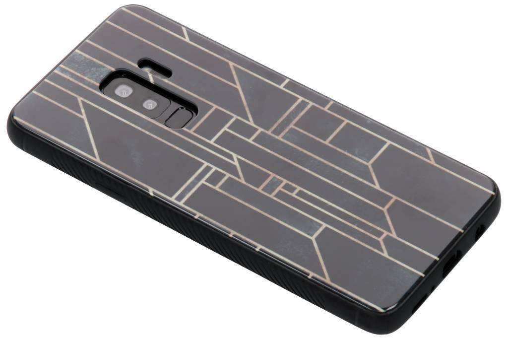 Grafische lijnen design glazen hardcase voor de Samsung Galaxy S9 Plus