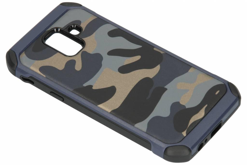 Blauwe army defender hardcase hoesje voor de Samsung Galaxy A6 (2018)