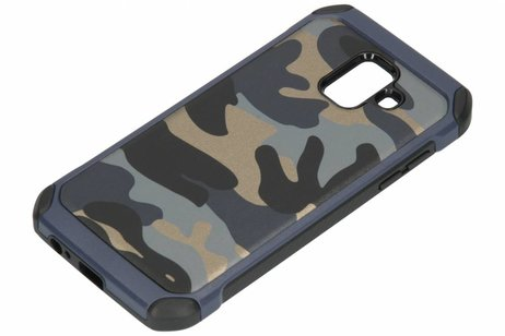 Army Defender Backcover voor Samsung Galaxy A6 (2018) - Blauw