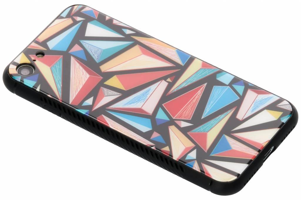 Grafische kleuren design glazen hardcase voor de iPhone 8 / 7