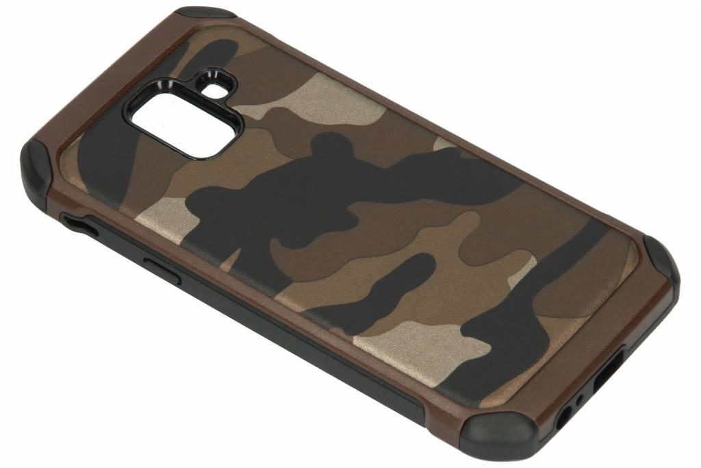 Bruine army defender hardcase hoesje voor de Samsung Galaxy A6 (2018)