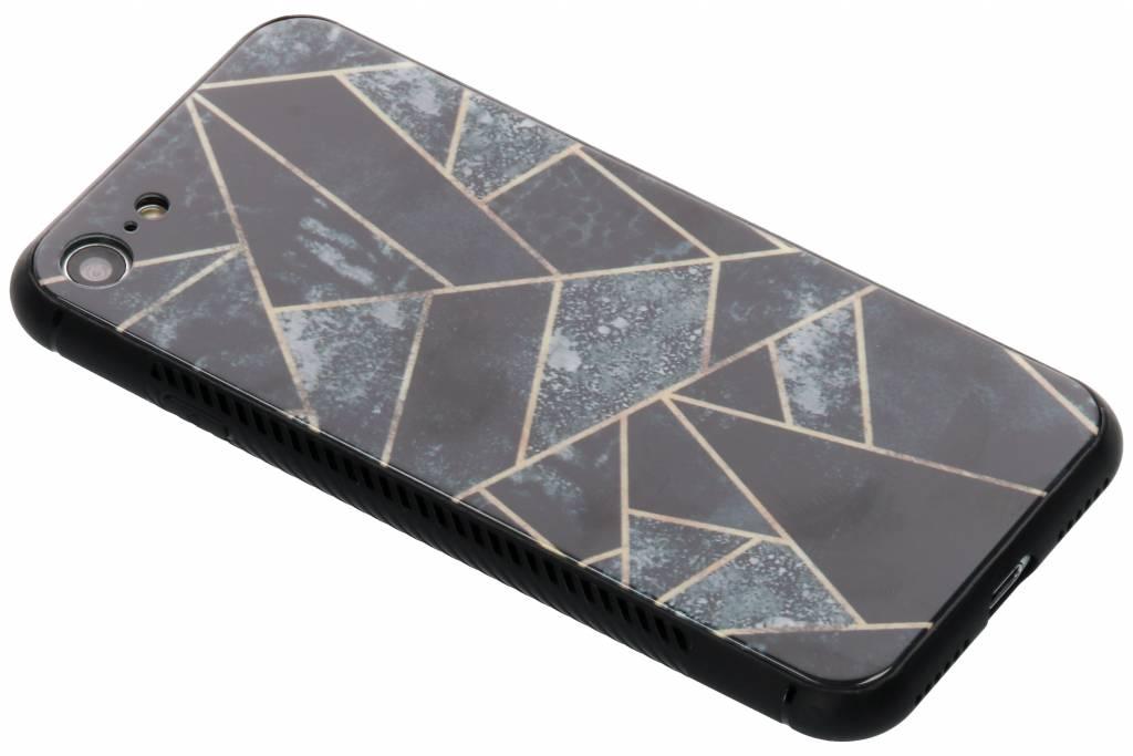 Grijs grafisch design glazen hardcase voor de iPhone 8 / 7