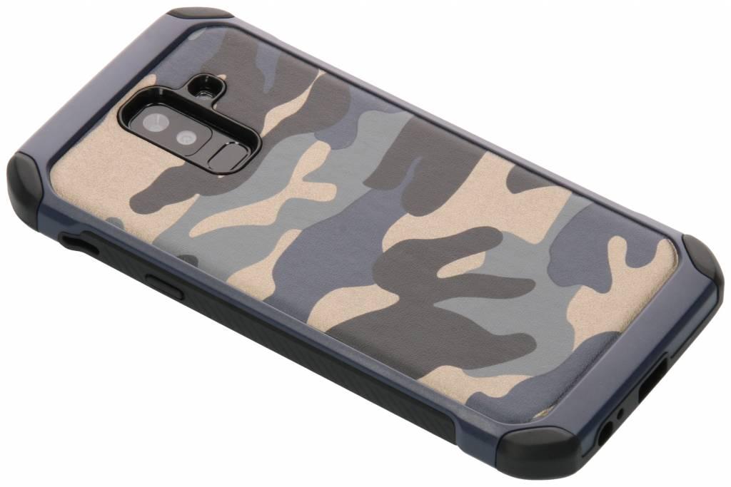 Blauw army defender hardcase hoesje voor de Samsung Galaxy A6 Plus (2018)
