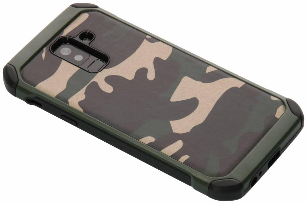 Army Defender Backcover voor Samsung Galaxy A6 Plus (2018) - Groen