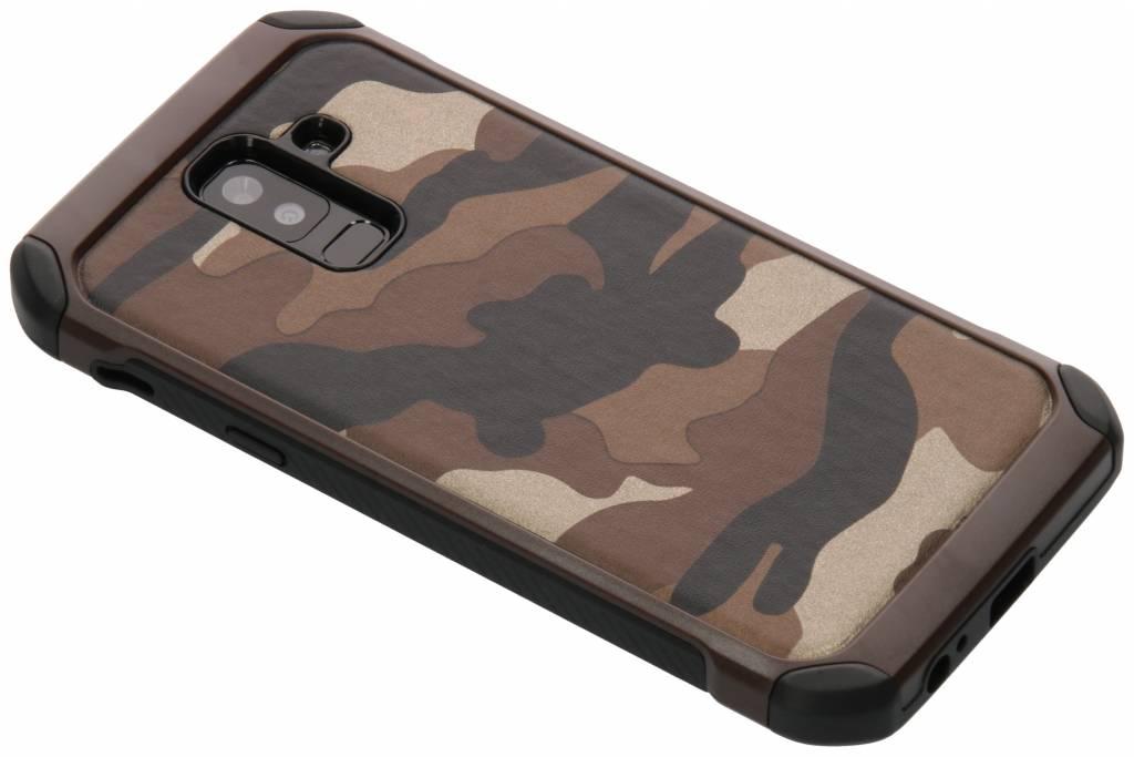 Army Defender Backcover voor Samsung Galaxy A6 Plus (2018) - Bruin