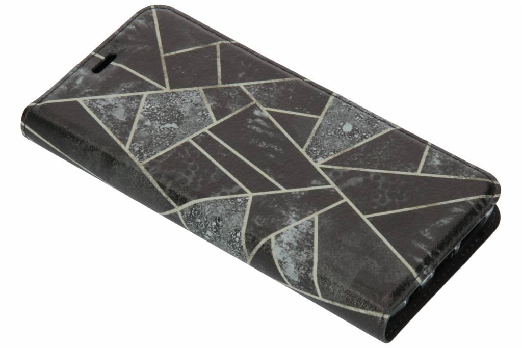 Grijs Grafisch Design TPU Bookcase voor de Samsung Galaxy S9