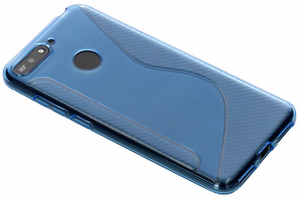 Blauw S-line TPU hoesje voor de Honor 7A