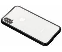 Selencia Zwart magnetisch hoesje iPhone Xs / X