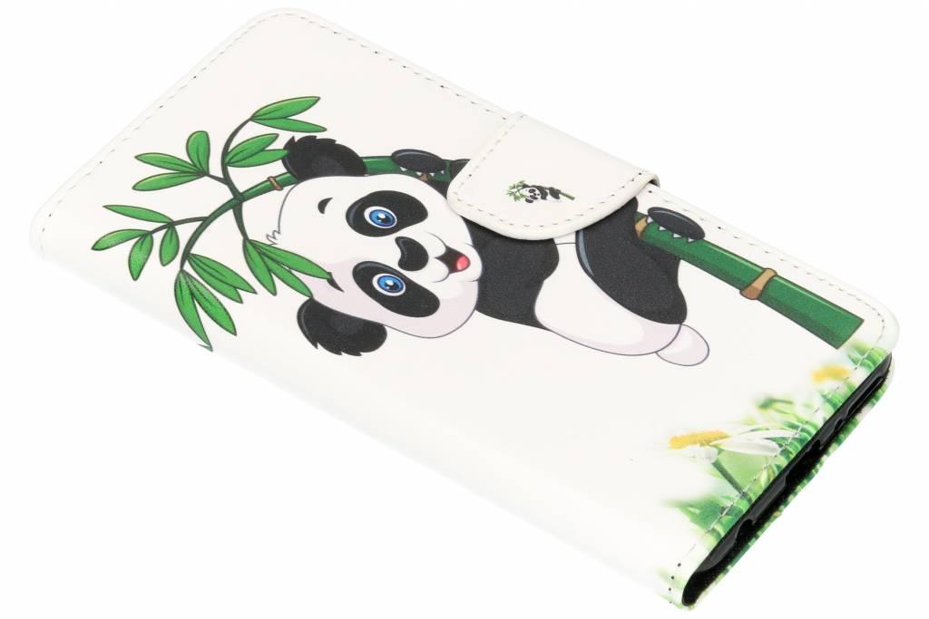 Panda in boom design TPU booktype hoes voor de Huawei Y7 (2018)