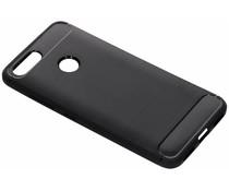 Zwart brushed TPU case Asus ZenFone Max Plus