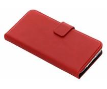 Selencia Samsung Galaxy S5 (Plus) / Neo hoesje rood - Echt lederen booktype
