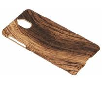 Donkerbruin hout design hardcase hoesje Nokia 3.1