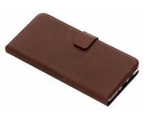 Selencia Nokia 7 Plus hoesje bruin - Echt lederen booktype