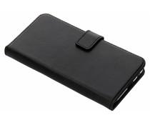 Selencia Samsung Galaxy J6 hoesje zwart - Echt lederen booktype
