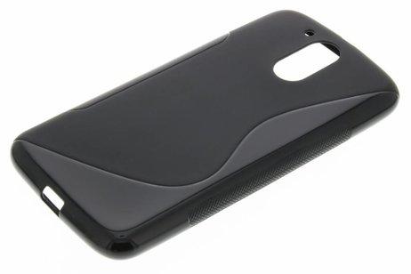 S-line Backcover voor Motorola Moto G4 (Plus) - Zwart
