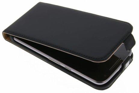 Luxe Hardcase Flipcase voor Motorola Moto G4 (Plus) - Zwart