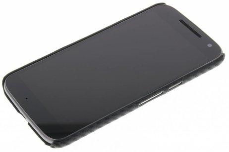 Carbon Hardcase Backcover voor Motorola Moto G4 (Plus) - Zwart