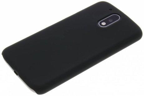 Effen Backcover voor Motorola Moto G4 (Plus) - Zwart