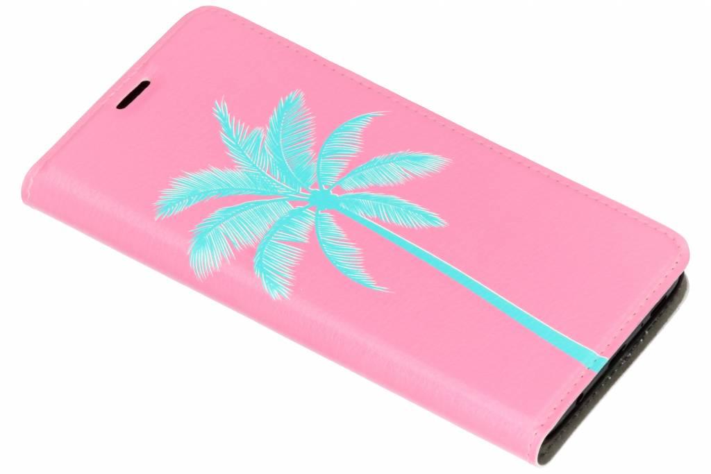 Palm Roze Design Booklet voor de Samsung Galaxy S9 Plus