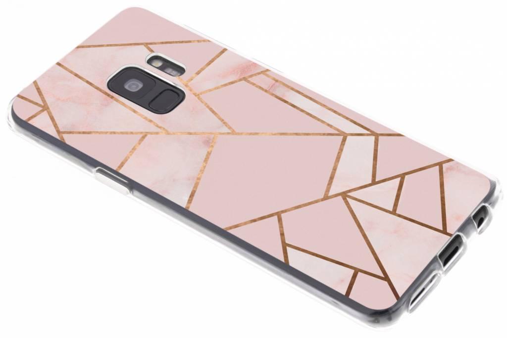 Design Backcover voor Samsung Galaxy S9 - Grafisch Roze / Koper