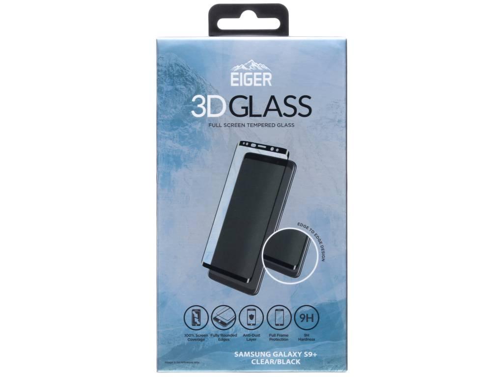 Zwarte 3D Tempered Glass Screenprotector voor de Samsung Galaxy S9 Plus