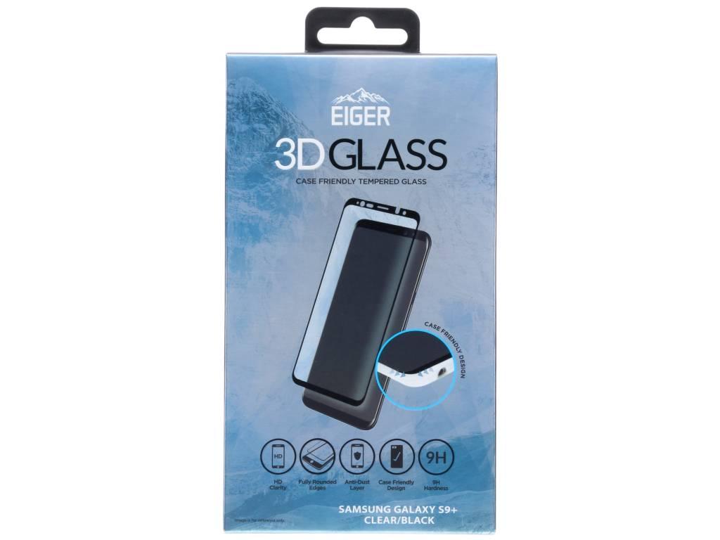 Zwarte Case Friendly Tempered Glass Screenprotector voor de Samsung Galaxy S9 Plus
