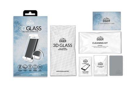 Eiger Tempered Glass Screenprotector voor iPhone 8 Plus / 7 Plus / 6(s) Plus - Wit