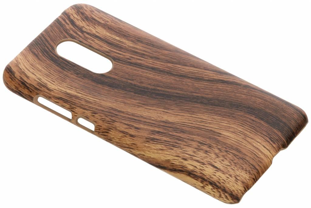 Bruin hout design hardcase hoesje voor de Xiaomi Redmi 5 Plus