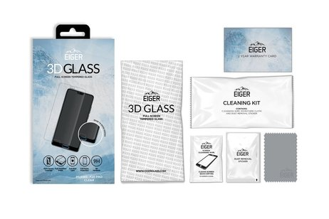 Eiger Tempered Glass Screenprotector voor Huawei P20 Pro