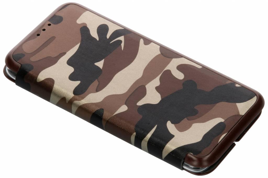 Bruine Army Slim Folio Case voor de OnePlus 6