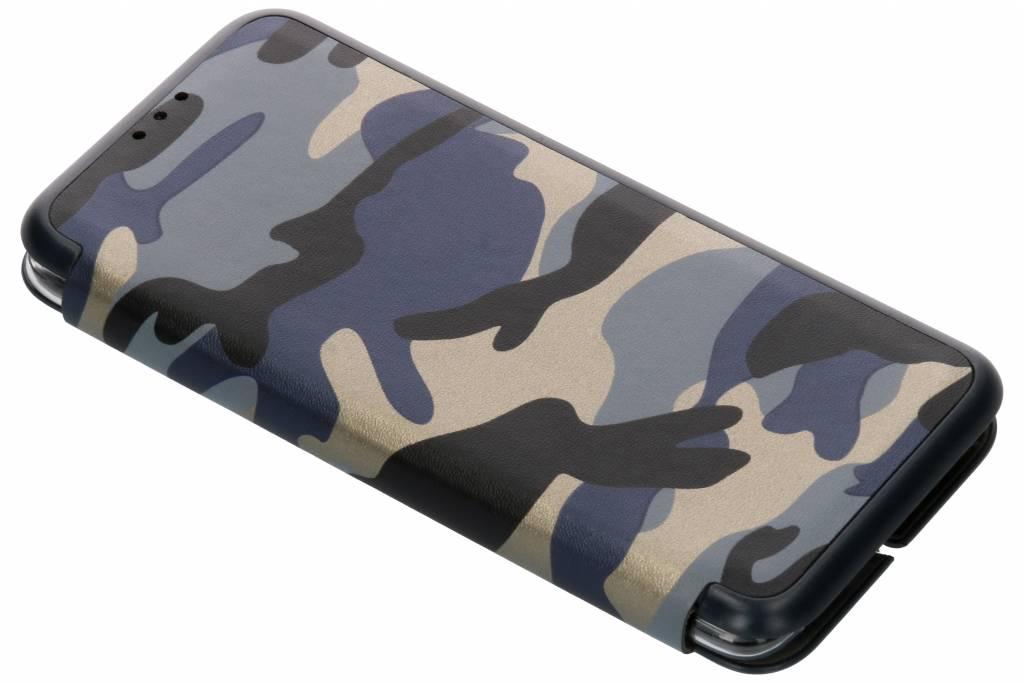 Army Slim Folio Booktype voor OnePlus 6 - Blauw