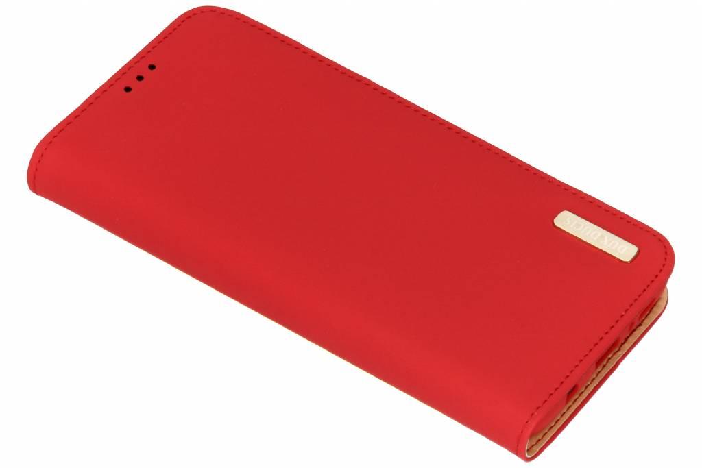 Rode Genuine Leather Case voor de Samsung Galaxy S9 Plus