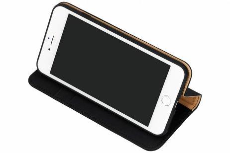 Dux Ducis Genuine Leather Booktype voor iPhone 8 Plus / 7 Plus - Zwart