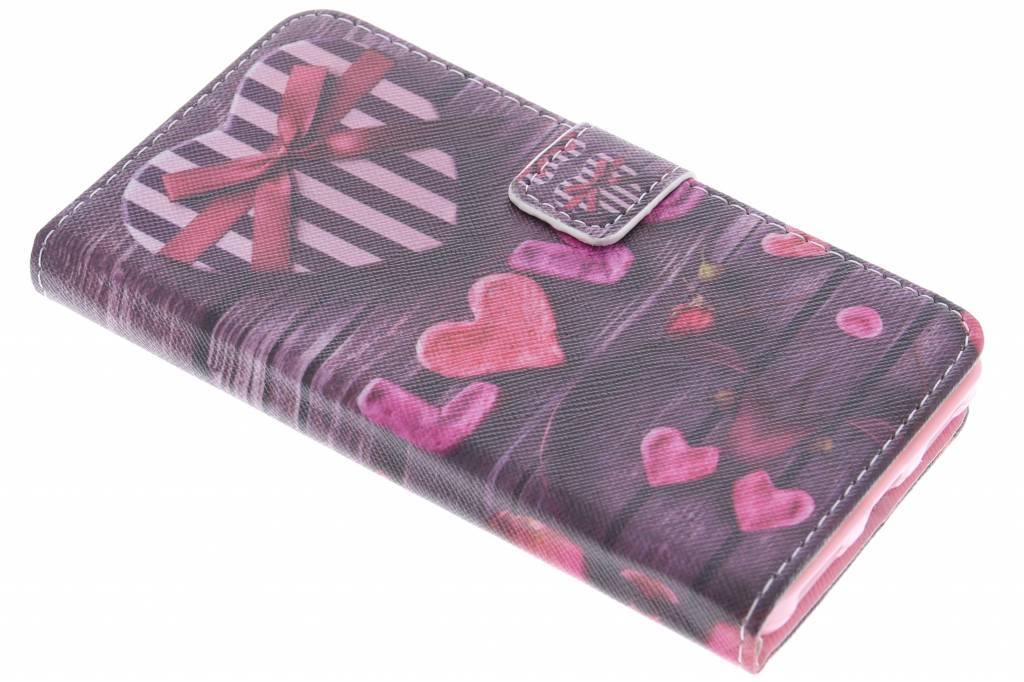 Love design TPU booktype hoes voor de Honor 7