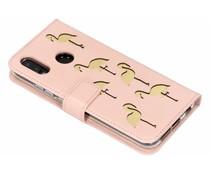 Flamingo Softcase Booktype Huawei P20 Lite - Roze