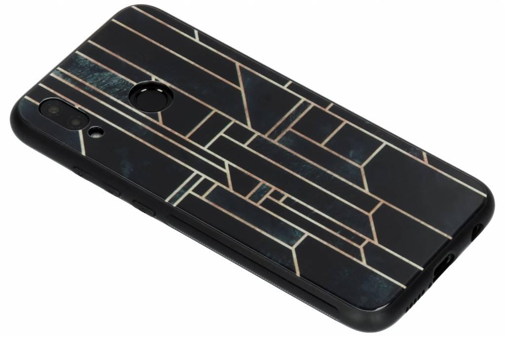 Grafische lijnen design glazen hardcase voor de Huawei P20 Lite
